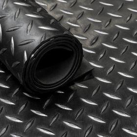 Gummiläufer / Gummimatte von der Rolle,  Diamant Motiv, 160cm, 3mm dick