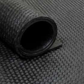 Gummiläufer / Gummimatte von der Rolle - Noppen - 180cm - 6 mm dick