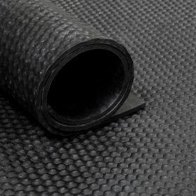 Gummiläufer/Gummimatte - Rolle von 20m² - 10mm Hammerschlag - Breite 200cm
