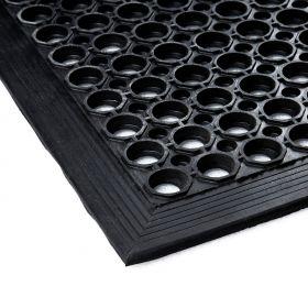 Gummi-Ringmatte - 80x120cm - Anlaufkante - Gummimatte für Küchen und Arbeitsplatz