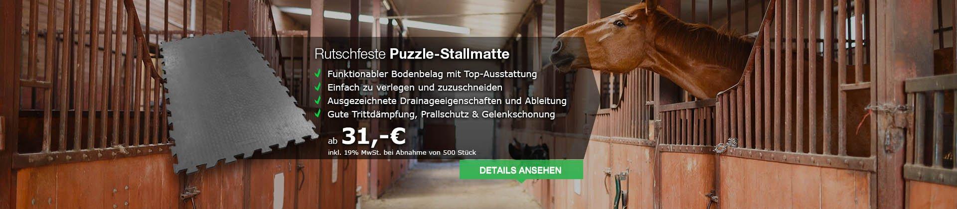 Ausgezeichnete Puzzle-Stallmatte mit vielen Funktionen zum Hammerpreis